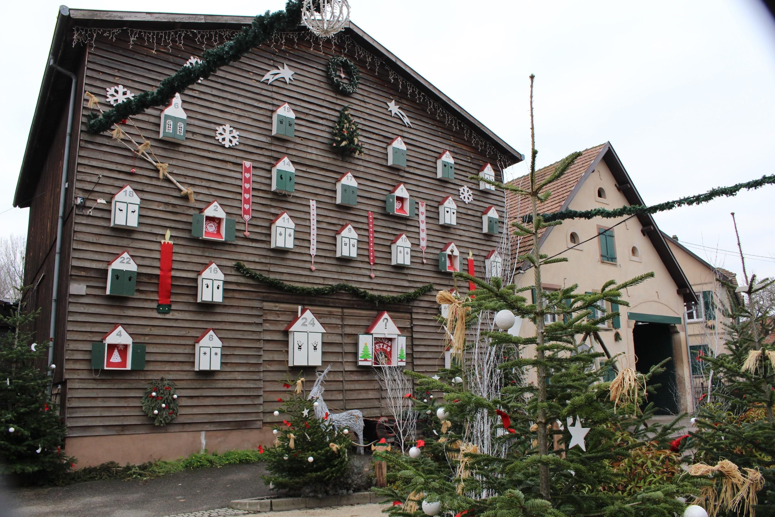 la grange en calendrier de Noel