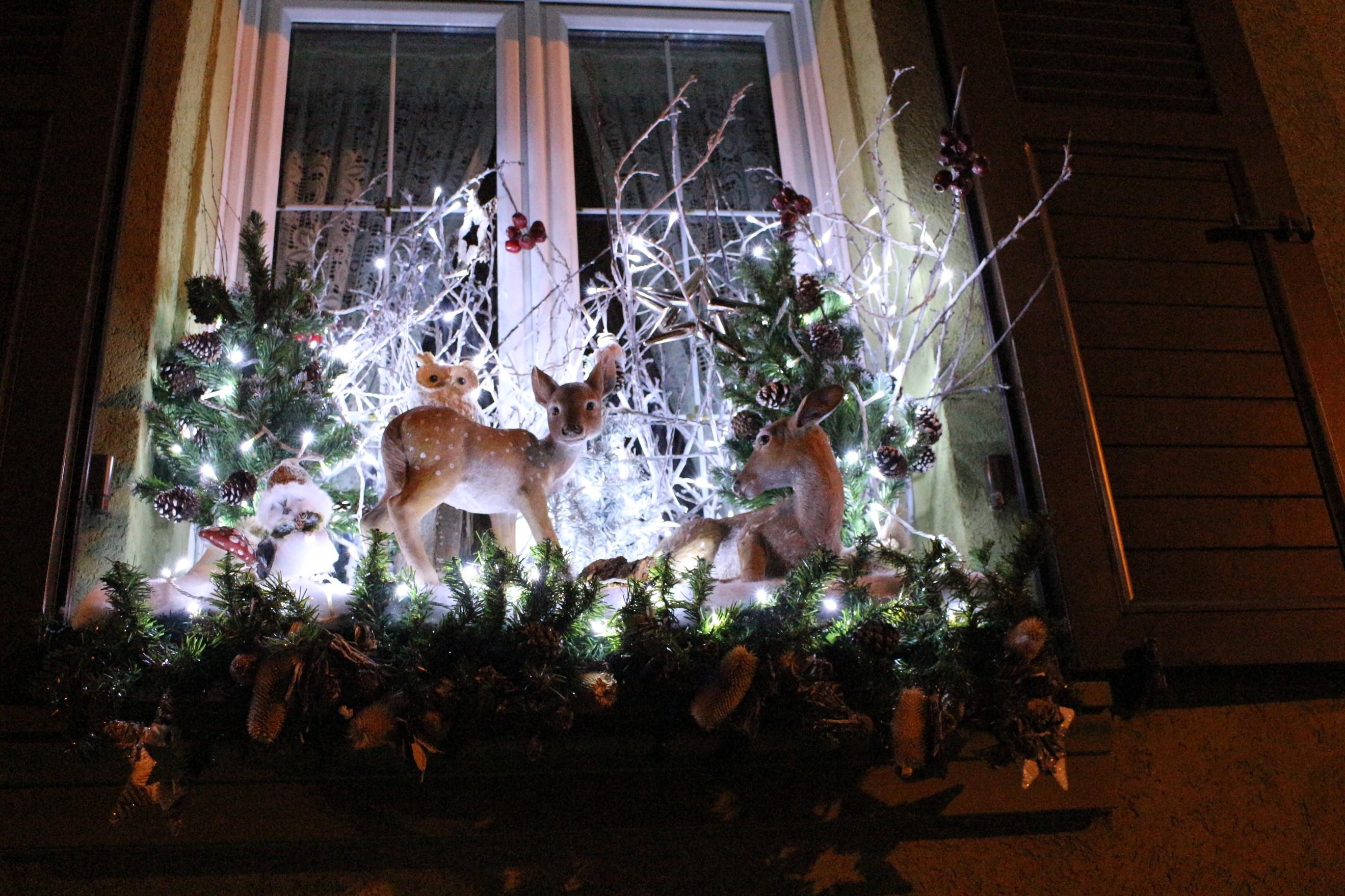 Fenêtre décorée pour Noël à Reichstett