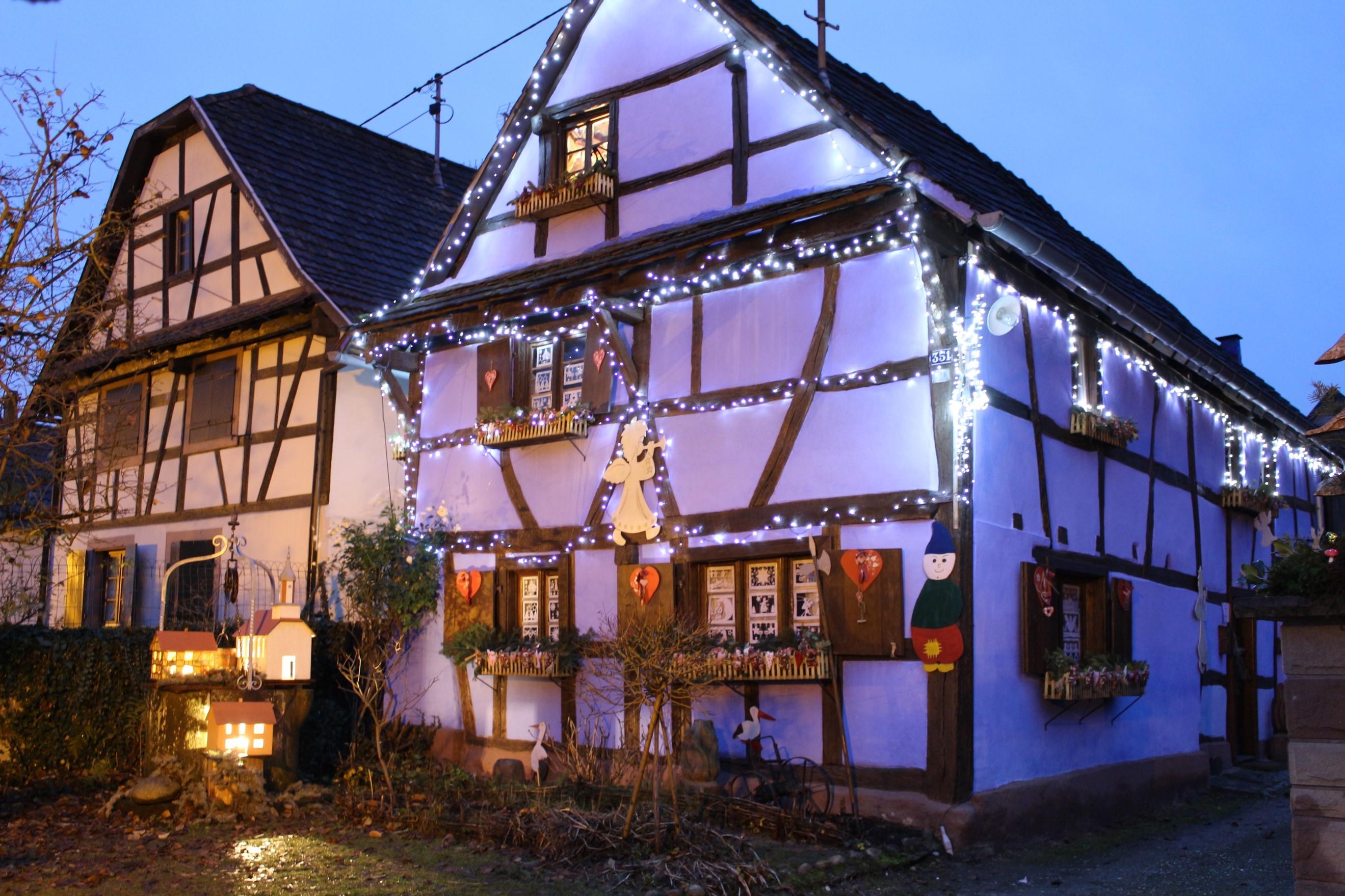 Maison Alsacienne décoration de Noêl