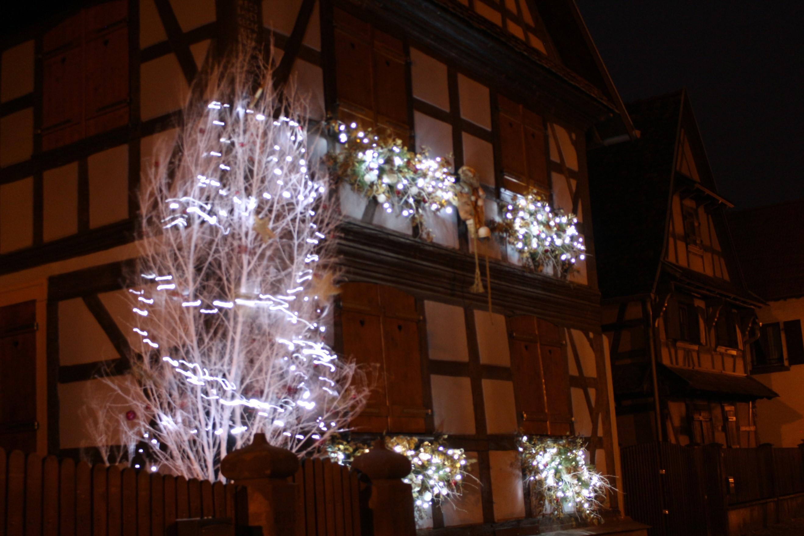 Maison Alsacienne décoré pour Noël